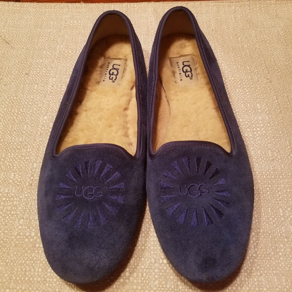 d6ac56ca6c0 UGG Blue Suede Alloway Loafers